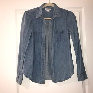 Jean button up shirt